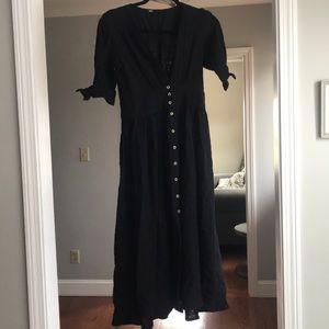 Free people black cotton dress